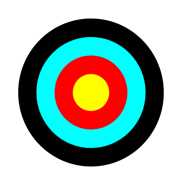 Target clipart vector royalty free library Round Target Clip Art at Clker.com - vector clip art online, royalty ... vector royalty free library
