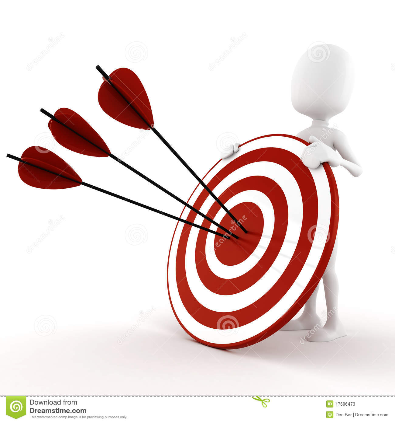 Target clipart no background vector royalty free download 3d Man Behind A Target - On White Background Stock Photos - Image ... vector royalty free download