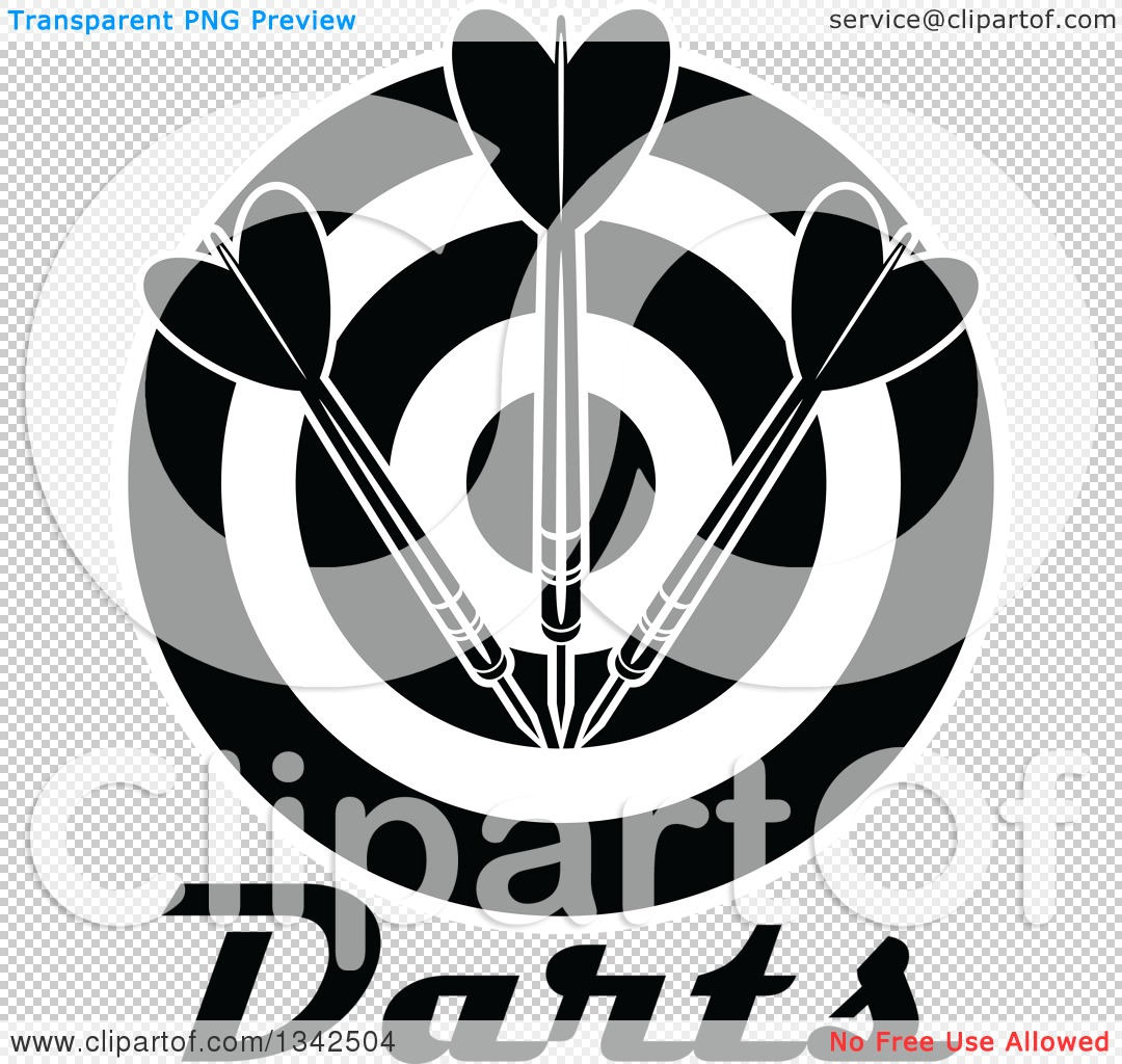 Target clipart no background image royalty free Clipart of a Black and White Target with Darts and Text - Royalty ... image royalty free