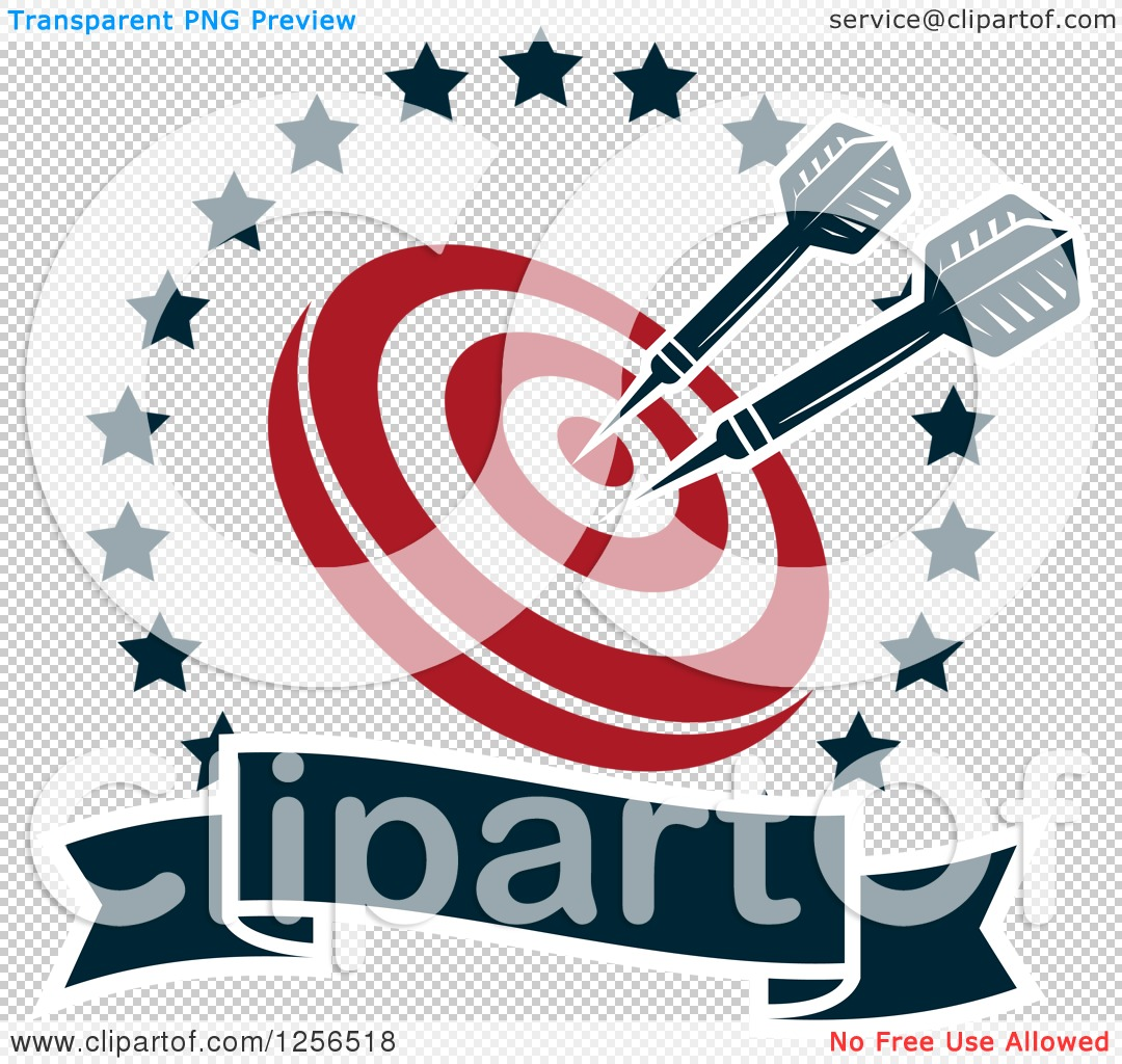 Target clipart no background banner royalty free download Clipart of Darts in a Target Inside a Star Circle with a Banner ... banner royalty free download