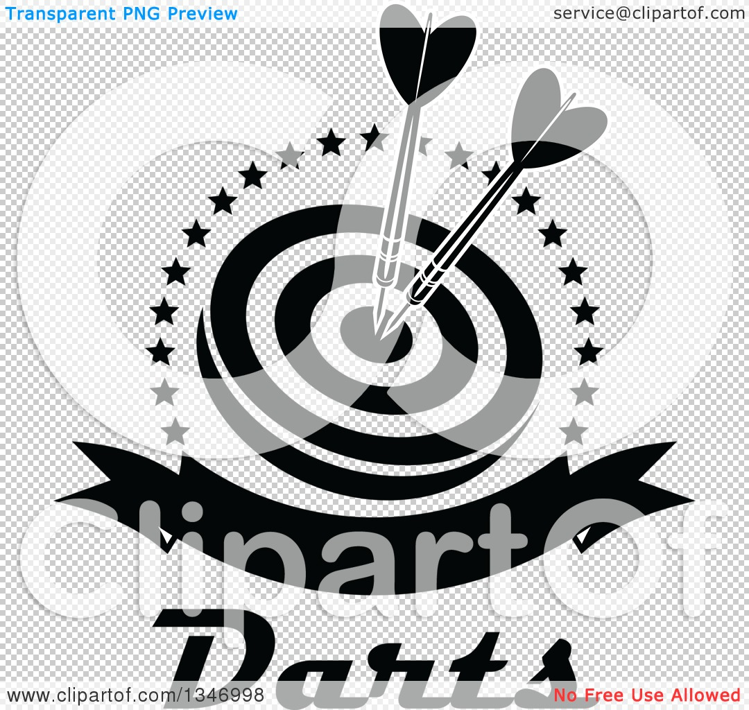 Target clipart no background clip free stock Clipart of Black and White Darts in the Bullseye of a Target ... clip free stock