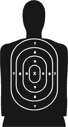 Target on body shot arrow clipart library Printable Shooting Targets | Colors are black, white and red ... library