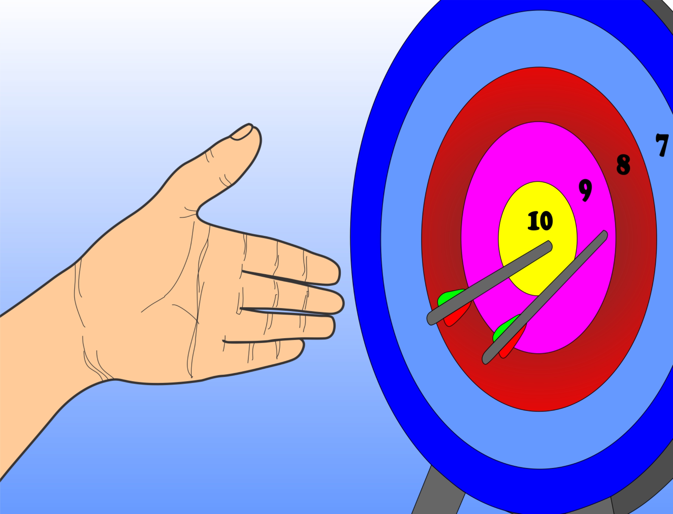 Target on body shot arrow clipart png library library How to Shoot an Arrow: 12 Steps (with Pictures) - wikiHow png library library