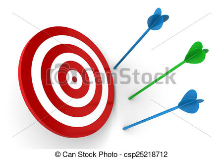 Target with arrow clipart jpg library stock Clipart of Arrows Off Target isolated on white background ... jpg library stock