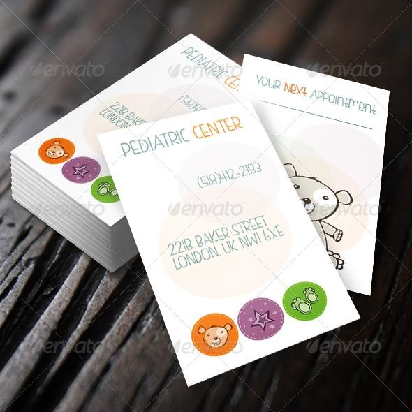 Tarjetas de presentacion babysitting clipart vector freeuse Pediatric Business Card | design business cards | Business ... vector freeuse