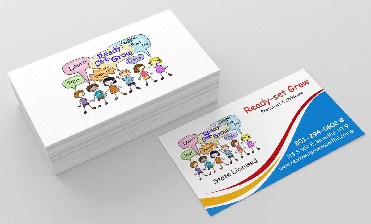Tarjetas de presentacion babysitting clipart png freeuse library Playful, Colorful, Preschool Business Card Design for Smoot ... png freeuse library