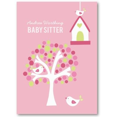 Tarjetas de presentacion babysitting clipart vector freeuse Baby Sitter Sitting Birds Business Card Template | Zazzle ... vector freeuse