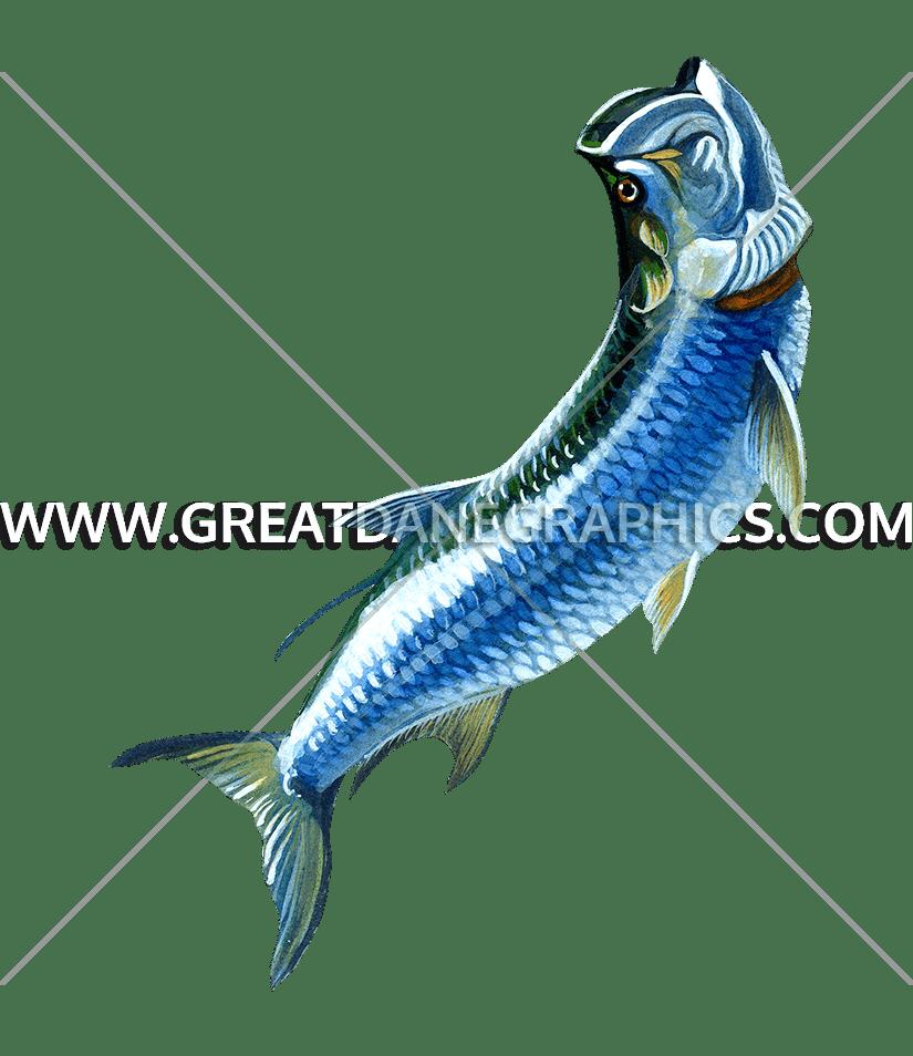Tarpon fish clipart png Tarpon | Production Ready Artwork for T-Shirt Printing png