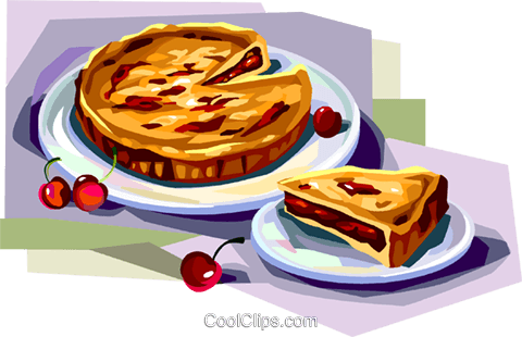 Tarte clipart png transparent library Cherry Almond tarte Royalty Free Vector Clip Art ... png transparent library