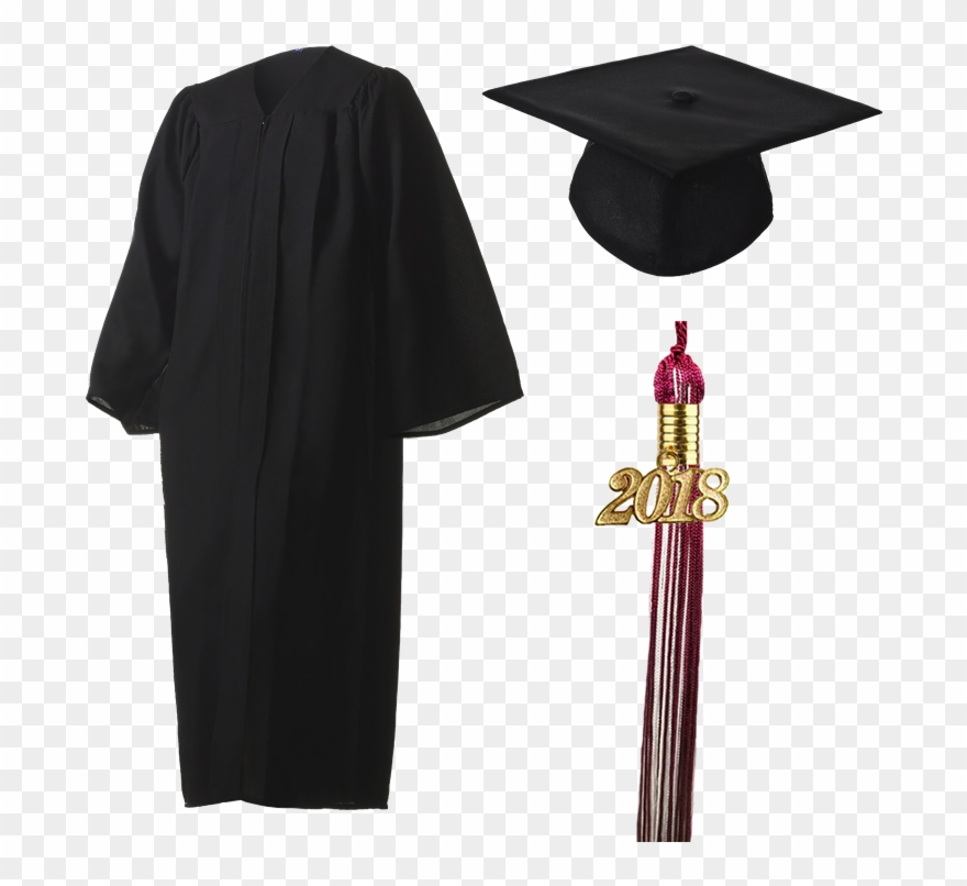 Free clipart graduation cap and gown image library library 2018 Graduation Black Cap, Gown, & Tassel - Cap And ... image library library