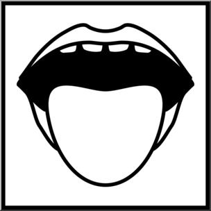 Taste clipart clipart black and white download Clip Art: Senses 1 Taste B&W I abcteach.com | abcteach clipart black and white download
