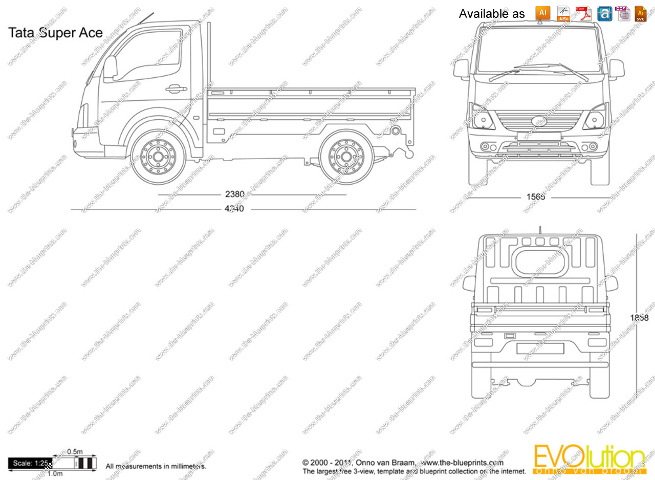 Tata ace clipart png royalty free stock The-Blueprints.com - Vector Drawing - Tata Super Ace png royalty free stock