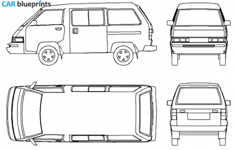Tata ace clipart vector freeuse download CAR blueprints - Toyota Liteace III M30 blueprints, vector ... vector freeuse download