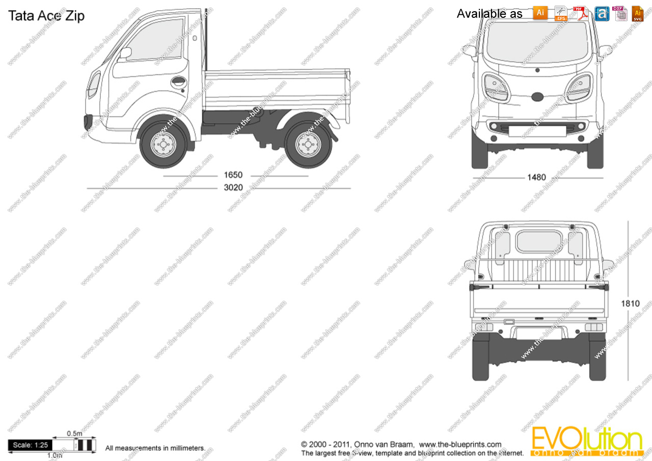 Tata ace clipart image The-Blueprints.com - Vector Drawing - Tata Ace Zip image