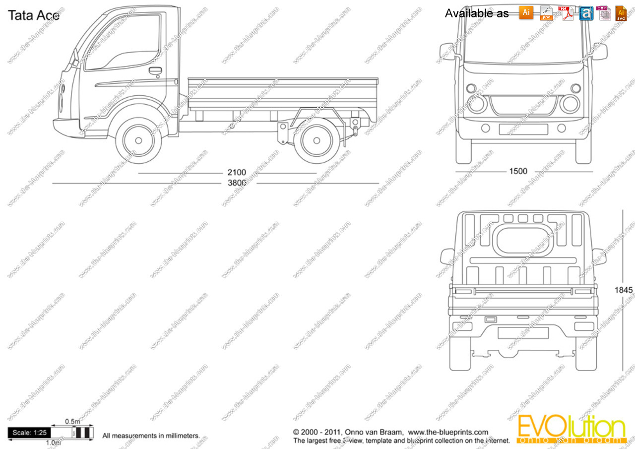 Tata ace clipart clip The-Blueprints.com - Vector Drawing - Tata Ace clip
