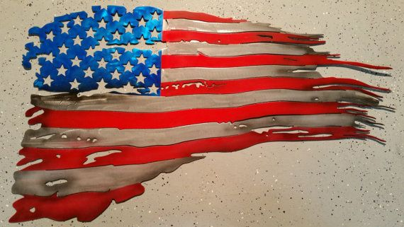 Tattered sign on a wood stick clipart graphic royalty free This is an amazing piece...The U.S. flag tattered and torn ... graphic royalty free