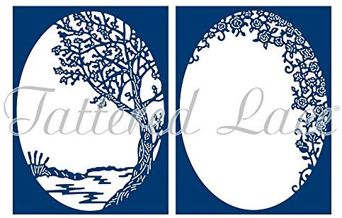 Tattered sign on a wood stick clipart clipart transparent Amazon.com: Tattered Lace A Moment of Calm Cutting Dies ... clipart transparent