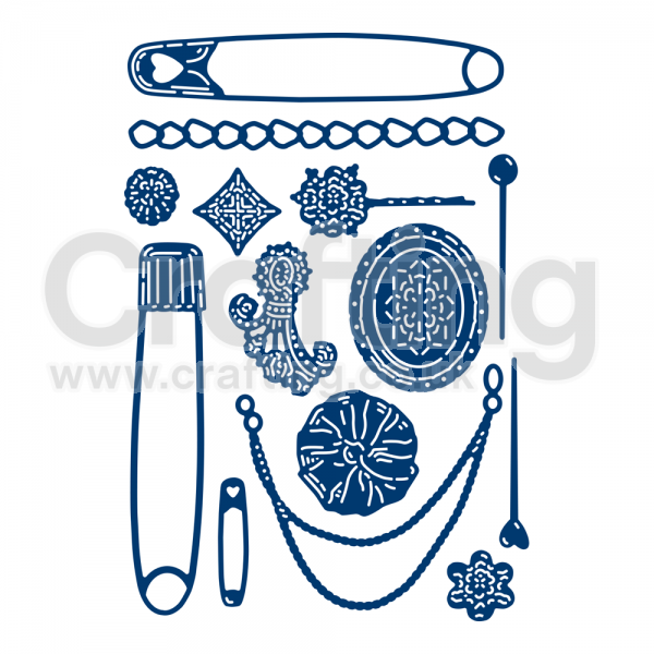Tattered sign on a wood stick clipart image royalty free Tattered Lace Swift Pins & Accents Die image royalty free