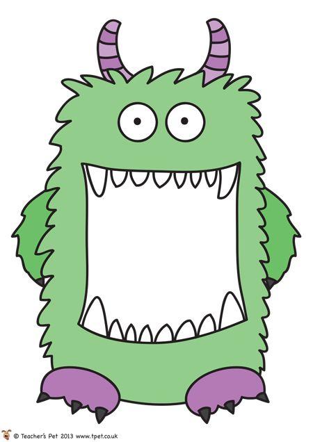 Tattle monster for preschool classroom clipart for door