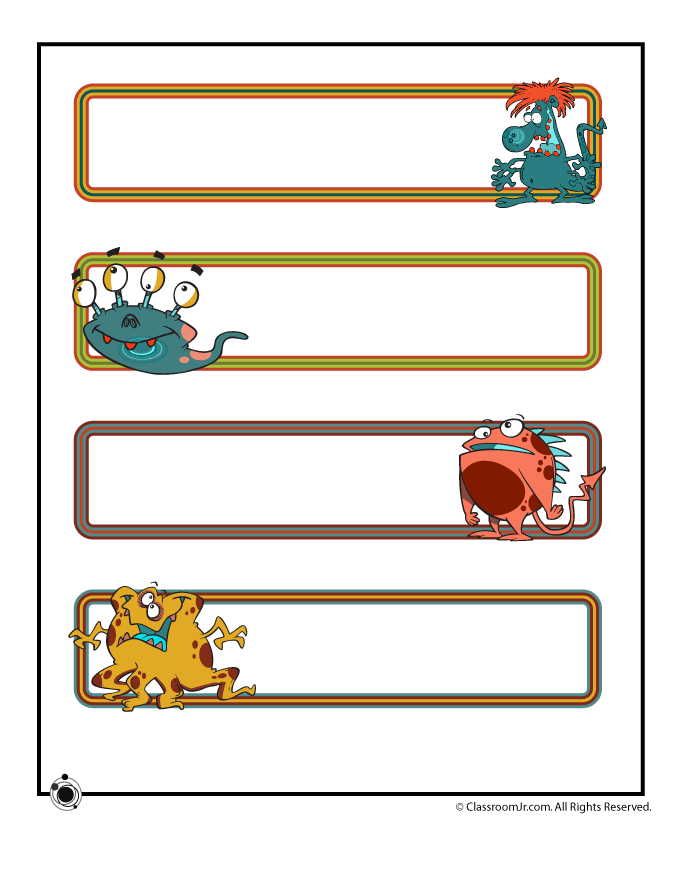 Tattle monster for preschool classroom clipart for door png royalty free library Printable Name Cards and Bulletin Board Decorations | IDEAS ... png royalty free library