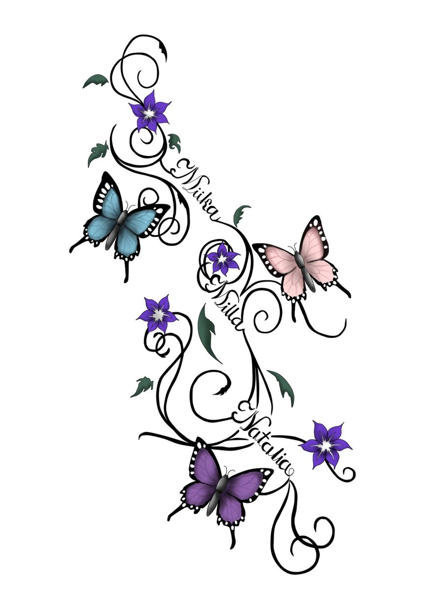 Tattoo clipart children png download 22+ Latest Butterfly Tattoo Designs png download