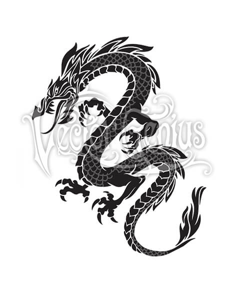 Tattoo clipart graphics vector stock Graphic Tribal Dragon Tattoo Stock Art vector stock