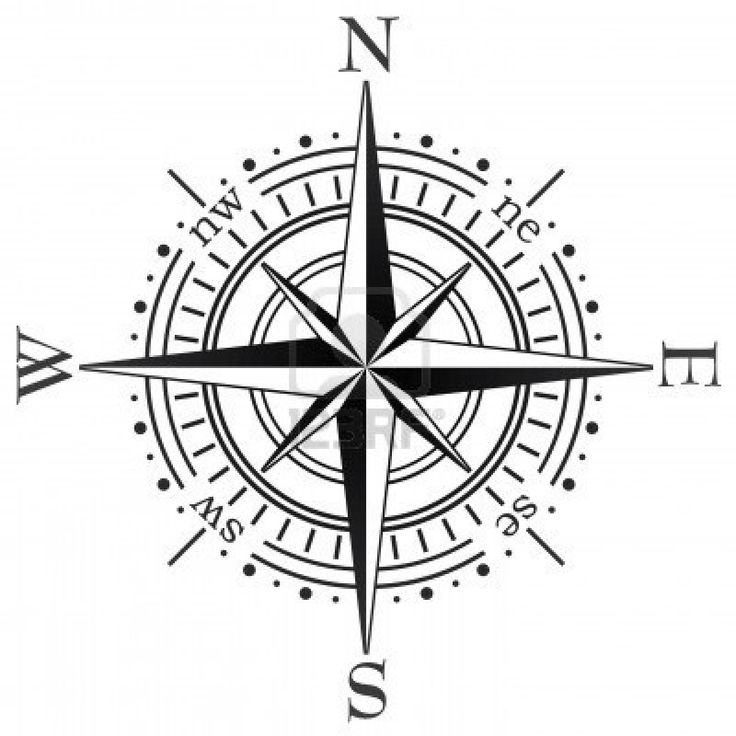Tattoo compass clipart clip black and white Stock Vector | tatted up | Compass vector, Compass rose ... clip black and white