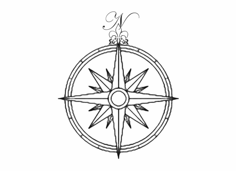 Tattoo compass clipart image freeuse stock Compas Drawing - Simple Compass Tattoo Drawing Free PNG ... image freeuse stock