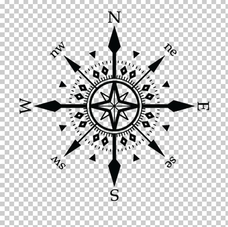 Tattoo compass clipart clipart freeuse stock Wall Decal Graphics Tattoo Compass Rose PNG, Clipart, Black ... clipart freeuse stock