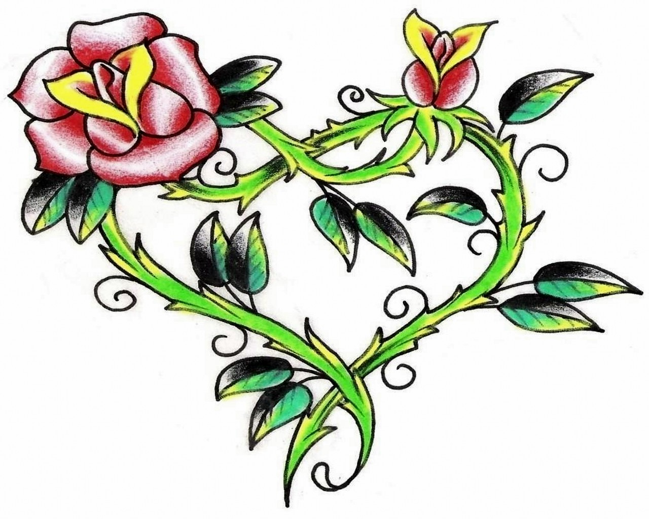 Tattoo flower clipart hd wallpaper image free download Flower And Heart Tattoo Designs Group with 74+ items image free download