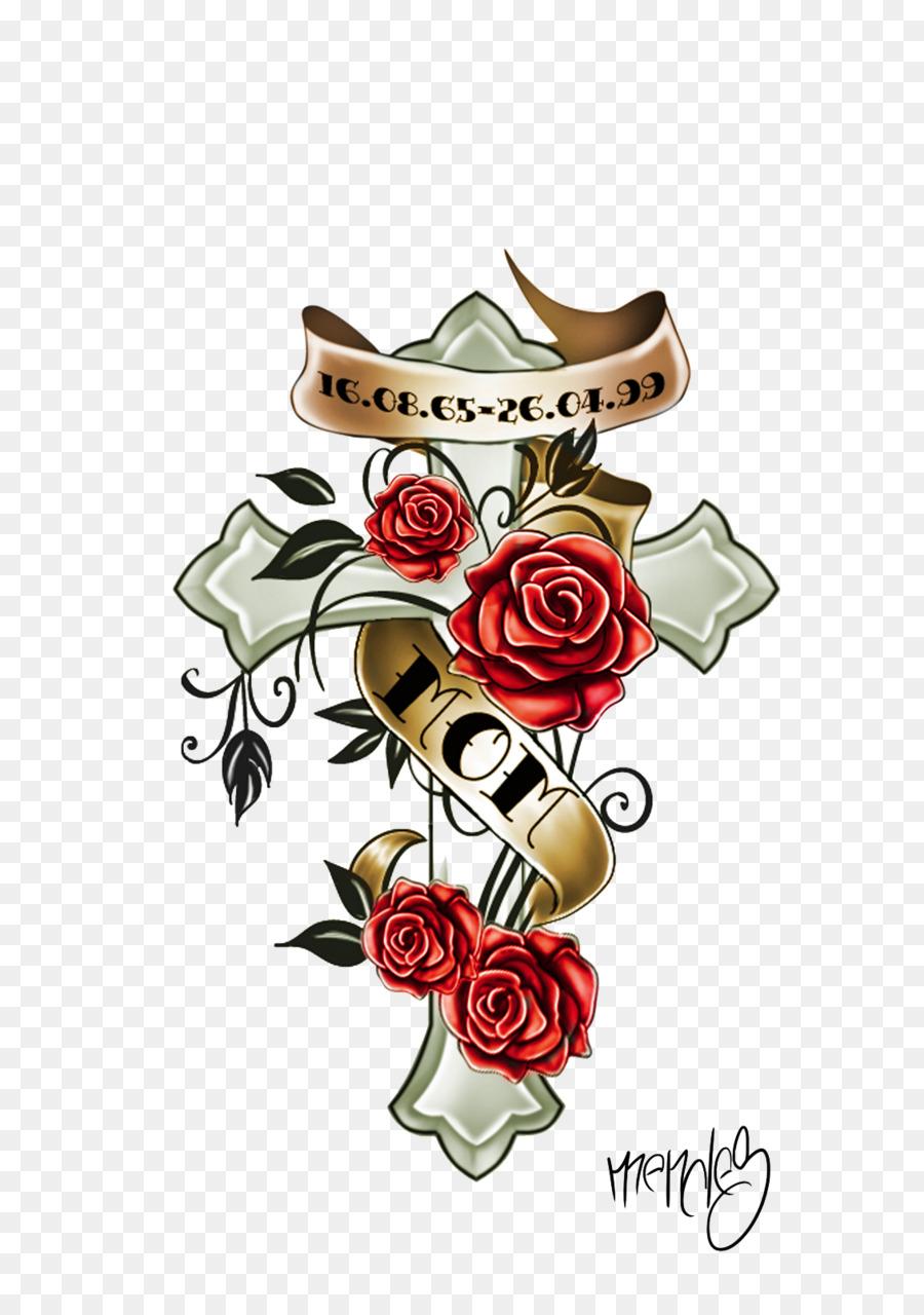 Tattoo flower clipart hd wallpaper transparent stock Flowers Clipart Background clipart - Flower, Cross ... transparent stock