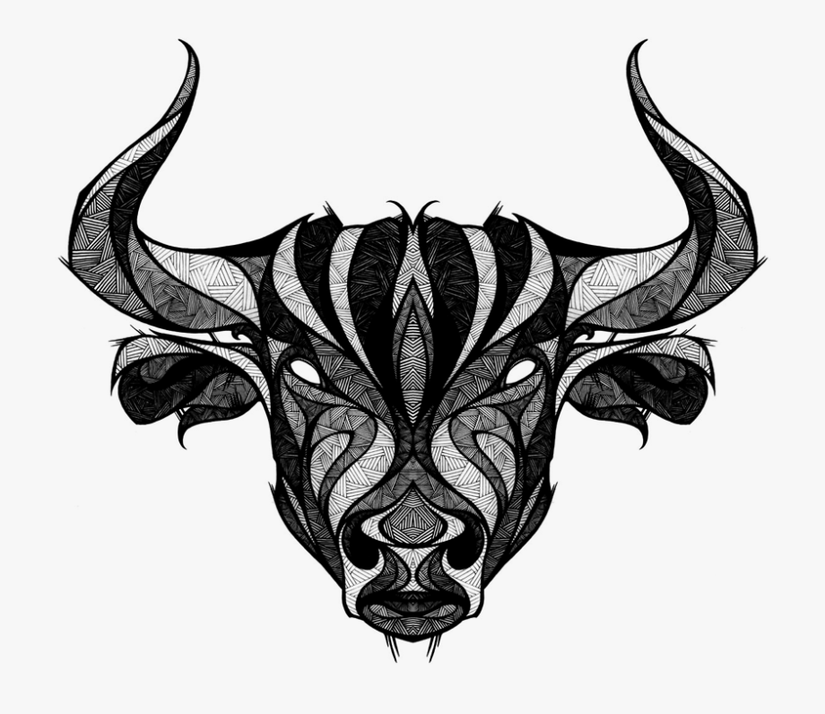 Taurus bull with crown clipart image black and white stock Taurus Clipart Bull Horn - Andreas Preis Taurus #456270 ... image black and white stock