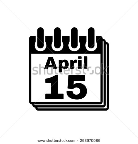 Tax april 15 day clipart picture transparent download April 15 Calendar Stock Images, Royalty-Free Images & Vectors ... picture transparent download