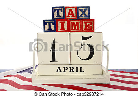 Tax april 15 day clipart banner transparent stock Stock Photography of USA Tax Day, April 15, concept. - USA Tax Day ... banner transparent stock