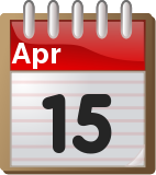 Tax april 15 day clipart png freeuse stock Tax Day 2014: Tax Deadlines For The 2013 Tax Year • Novel Investor png freeuse stock
