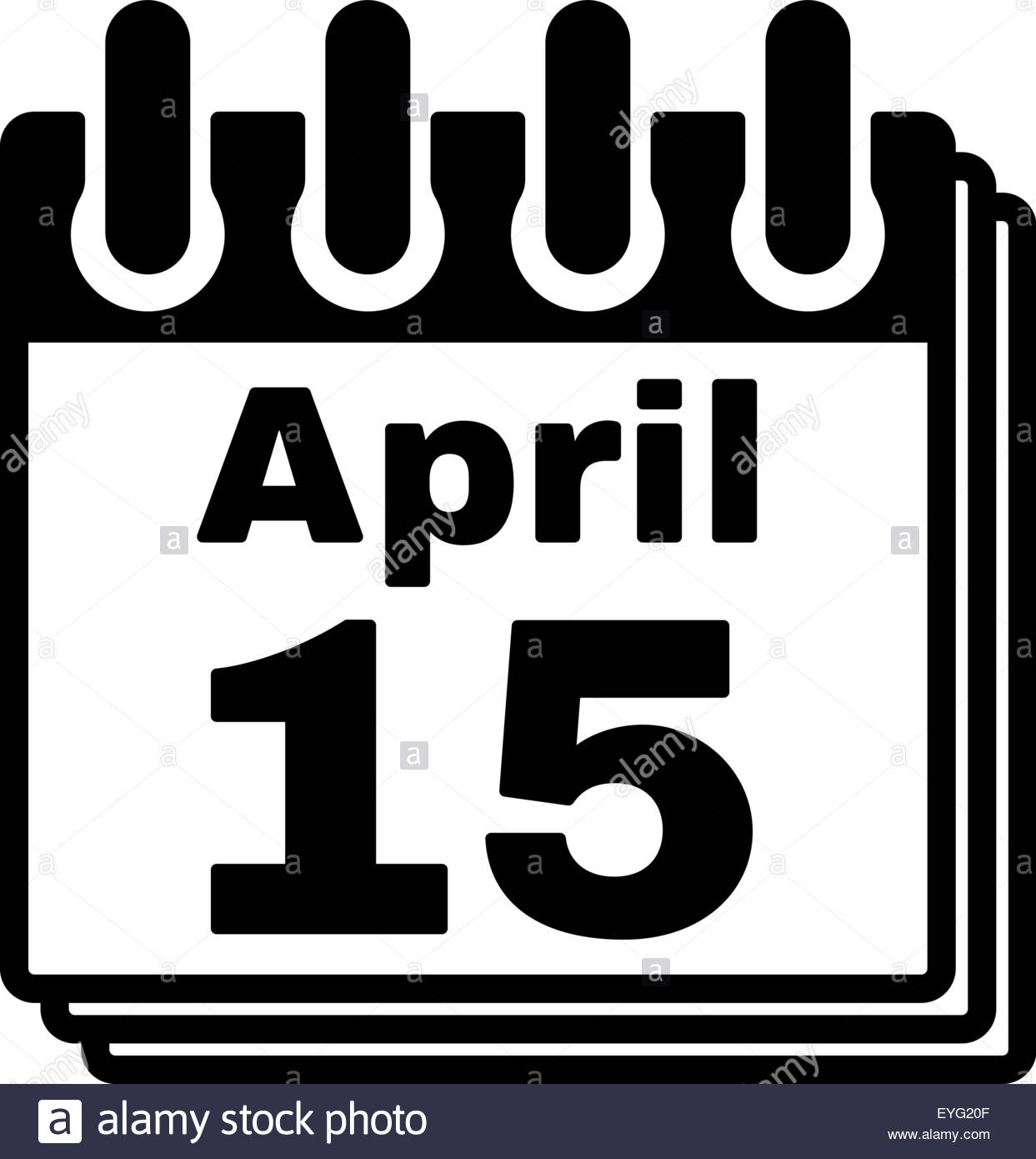 Tax april 15 day clipart jpg freeuse download The Calendar 15 April Icon. Tax Day Stock Photo, Royalty Free ... jpg freeuse download