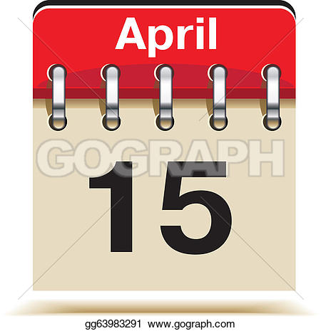Tax april 15 day clipart png library download Tax Day Clip Art - Royalty Free - GoGraph png library download