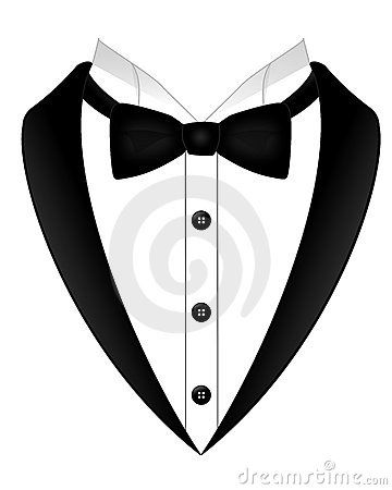 Shirt and tie clipart black and white vector transparent download An Illustration Of A Black Bow Tie White Shirt And Tuxedo ... vector transparent download