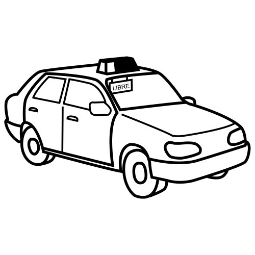 Taxi black and white clipart picture transparent library Taxi Clipart Black And White | Free download best Taxi ... picture transparent library