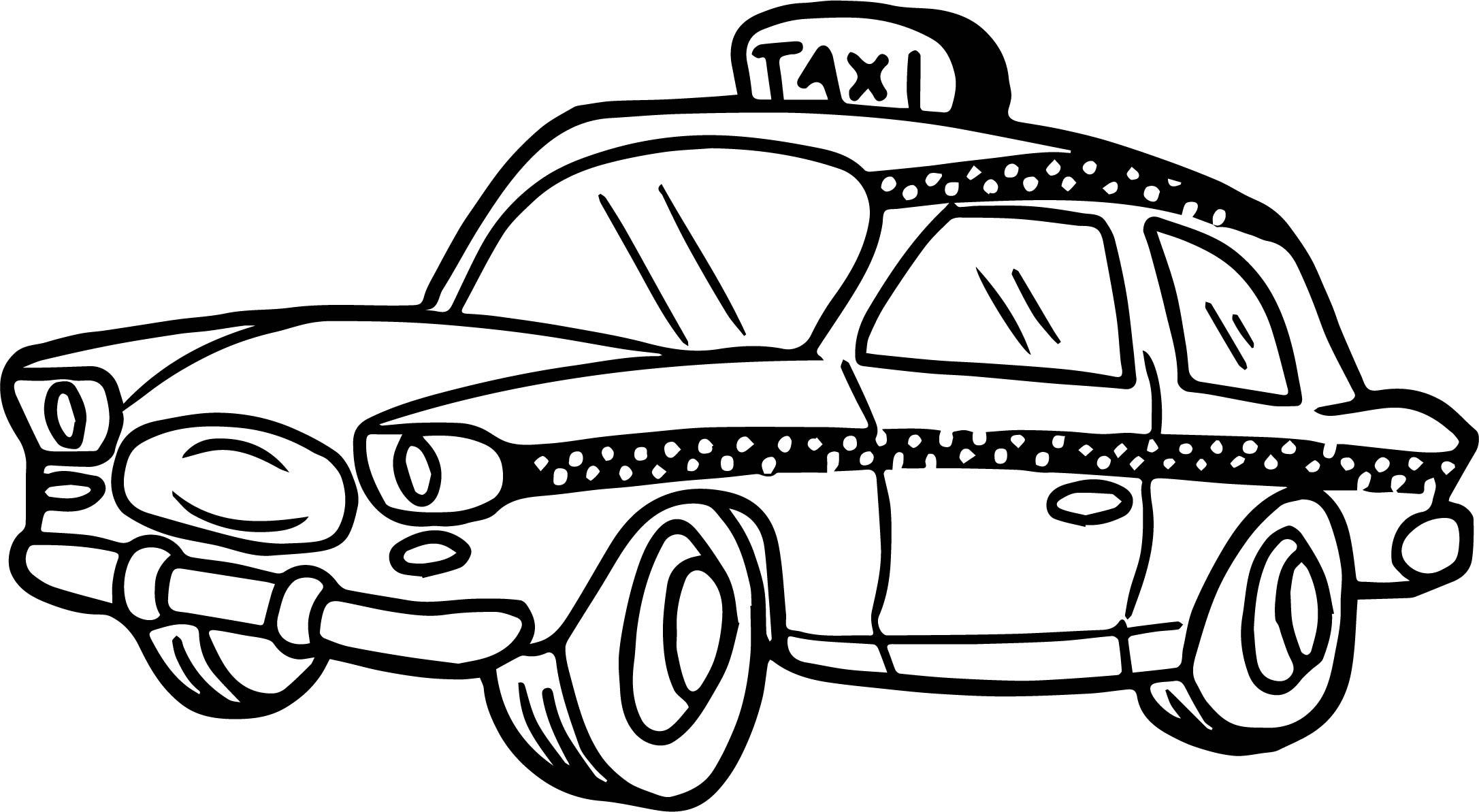 Taxi black and white clipart clip art black and white Cab clipart black and white 3 » Clipart Station clip art black and white