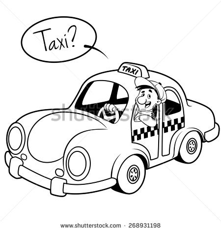 Taxi black and white clipart picture freeuse download Taxi clipart black and white 3 » Clipart Station picture freeuse download