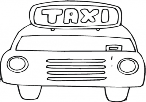 Taxi black and white clipart banner library Download taxi cartoon black and white clipart Taxi Coloring ... banner library