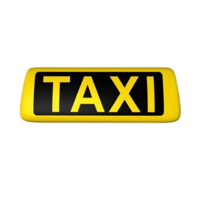 Taxi sign clipart png free Yellow Taxi Sign transparent PNG - StickPNG png free