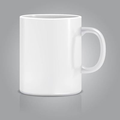 Taza blanca clipart banner library download Free Realistic White Cup Clipart and Vector Graphics ... banner library download