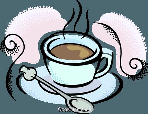 Tazza di cappuccino clipart picture freeuse download tazza di caffè con cucchiaio immagini grafiche vettoriali ... picture freeuse download