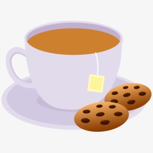Tea and cookies clipart svg freeuse download Clipart Of Evening, Tea And Cookies - Coffee Cup, Cliparts ... svg freeuse download
