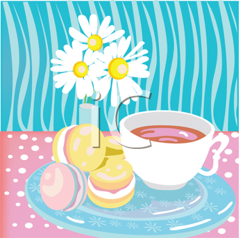 Tea and cookies clipart clipart library Royalty Free Clipart Image of Tea and Cookies #428800 ... clipart library