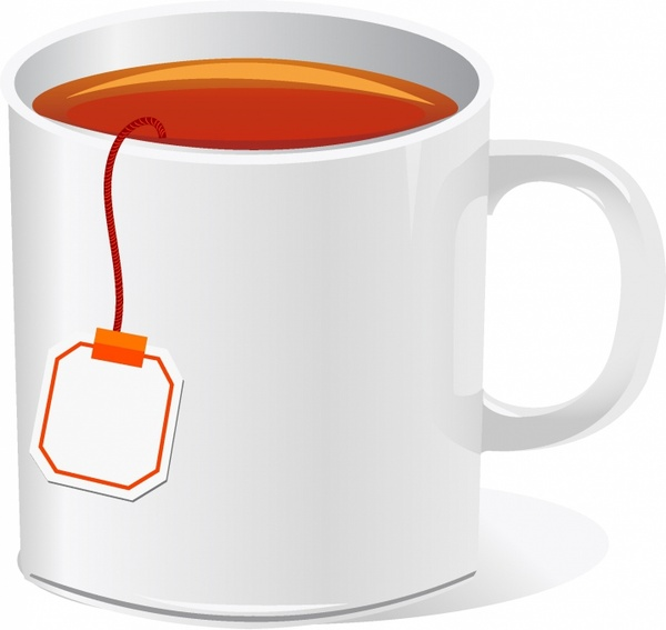 Clipart tea banner free library Tea cup with teabag Free vector in Adobe Illustrator ai ... banner free library
