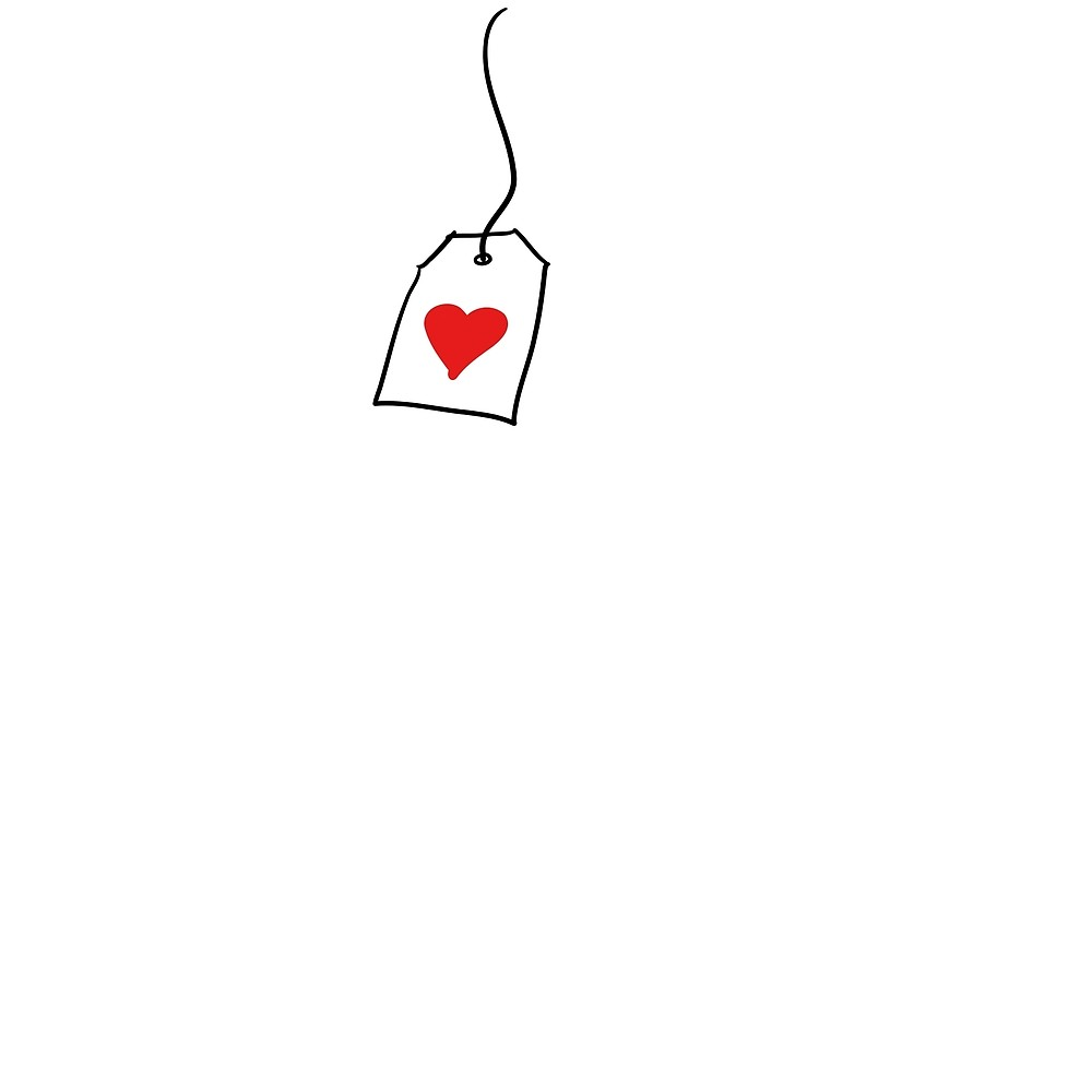 Tea bag with heart clipart