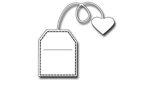Tea bag with heart clipart svg black and white download Amazon.com: Frantic Stamper - Dies - Large Tea Bag: Arts ... svg black and white download